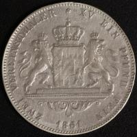 Doppelter Vereinstaler 1861