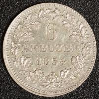 6 Kreuzer 1854