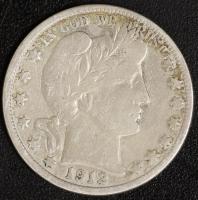 1/2 $ Barber 1912 D
