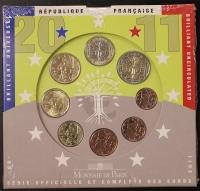 Kursmünzensatz 2011 st Frankreich