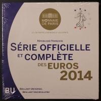 Kursmünzensatz 2014 st Frankreich