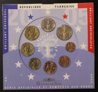 Kursmünzensatz 2005 st Frankreich
