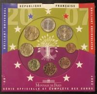 Kursmünzensatz 2007 st Frankreich