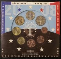 Kursmünzensatz 2008 st Frankreich