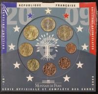 Kursmünzensatz 2009 st Frankreich
