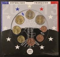 Kursmünzensatz 2013 st Frankreich