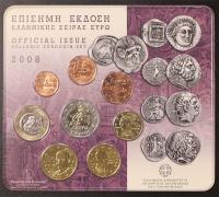 Kursmünzensatz 2008 Griechenland