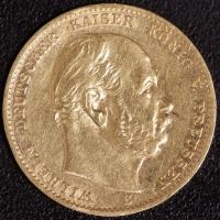 10 Mark Wilhelm I 1873 B