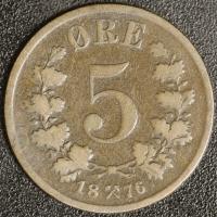 5 Öre 1876