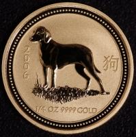 2006 Hund 1/4 Unze Lunar I Gold