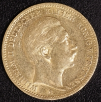 20 Mark Wilhelm II 1893