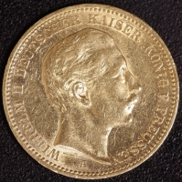 20 Mark Wilhelm II 1896