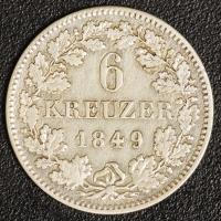 6 Kreuzer 1849