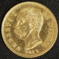 20 Lire Umberto I. 1882