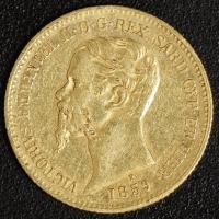 20 Lire Victor Emanuel II. 1859 Sardinien