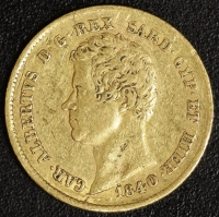 20 Lire Karl Albert 1840