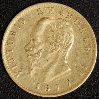 20 Lire Victor Emanuel II. 1877