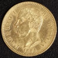 20 Lire Umberto I. 1881