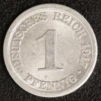 50x 1 Pfennig 1917 A ss-vz