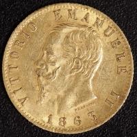 20 Lire Victor Emanuel II. 1863