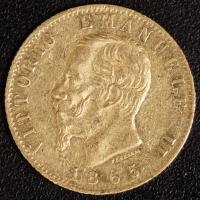 20 Lire Victor Emanuel II. 1865