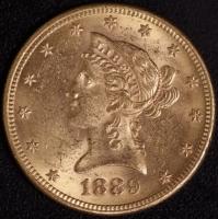 10 $ Liberty 1889-S   ss-vz