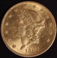 20 $ Liberty 1904  fast vz