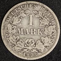 1 Mark 1873 D s-ss