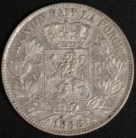 5 Fr. Leopold II 1868