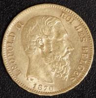 20 Fr. Leopold II 1870