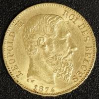 20 Fr. Leopold II 1874