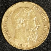 20 Fr. Leopold II 1878