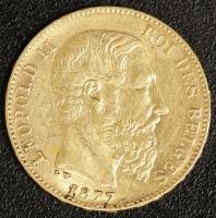 20 Fr. Leopold II 1877