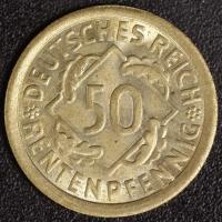 50 Rentenpfennig 1923 G