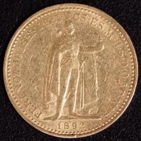 20 Kronen 1892 Gegenstempel