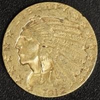 5 $ Indianer 1912   ss