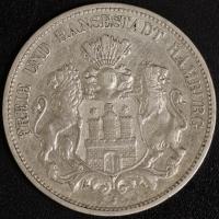 5 Mark Hamburg 1898 ss
