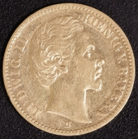 20 Mark Ludwig II 1874