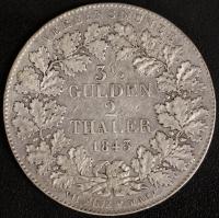 3.5 Gulden / 2 Taler 1843 ss
