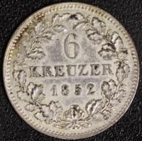 6 Kreuzer 1852