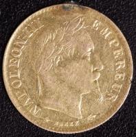 10 Franc Napoleon 1873 Henkelspur
