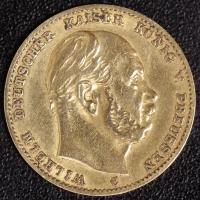 10 Mark Wilhelm I 1872 C