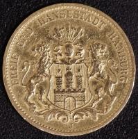 20 Mark Hamburg 1884 ss