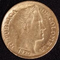 5 Pesos Bolivar 1920