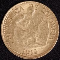 5 Pesos Bergmann 1913