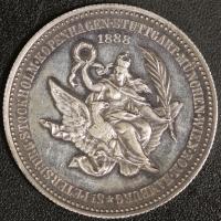 Medaille 1888 Friedensreise