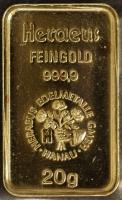 Goldbarren - 20 Gramm