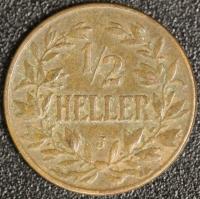 1/2 Heller 1906 J DOA