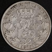 5 Fr. Leopold II 1870