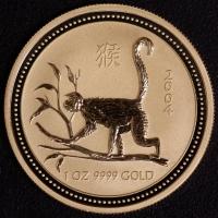 2004 Affe - 1 Unze Lunar I GOLD